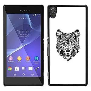 [Neutron-Star] Snap-on Series Teléfono Carcasa Funda Case Caso para Sony Xperia T3 [Black White Hound Dog Canine Sketch]