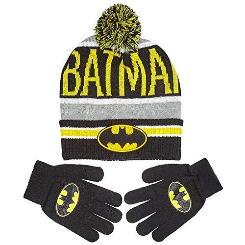 DC Comics Batman Big Boys Beanie Hat and Gloves