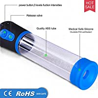 Electric Pump for Men Ultra-Soft Cup Massager Toys, Instantly Add Length and Girth with Intense Super Suction Vacuum Pump