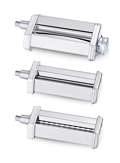 3 Piece Pasta Roller Cutter Attachment Set Compatible with KitchenAid Stand  Mixers, Included Pasta Sheet Roller, Spaghetti Cutter, Fettuccine Cutter ...