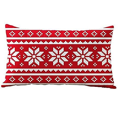 54b2d7dfff Hangood Divano Federa Cuscini Flanella Decorazioni per la Casa Natale  fiocco di neve 30cm x 50cm: Amazon.it: Casa e cucina