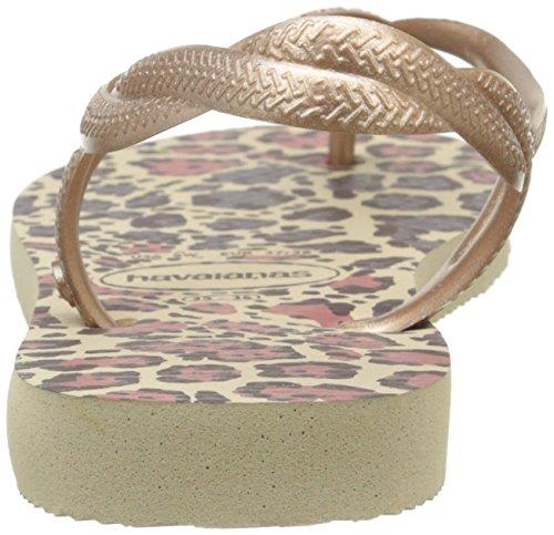 HavaianasLuna Animals - Sandalias Mujer Multicolor (Sand Grey/Rose Gold 4879)