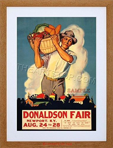 AD DONALDSON FAIR KENTUCKY FARM USA FRAMED PRINT F97X2092