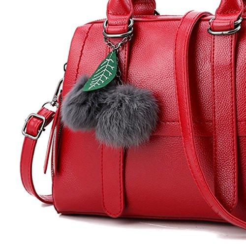 Pu Winered Bag Solid Messenger Handbag Shoulder Leather Ms vwdxq7O0TT