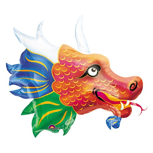 Chinese Dragon Head Supershape Mylar Balloon