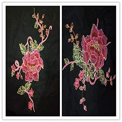 0ae9eeeb82195 Virtue DIY Peacock Flower Sequins Embroidered Patches for Clothes ...