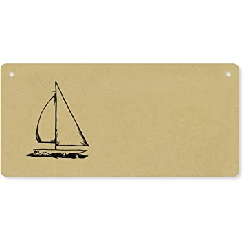 Amazon.com: velero placa de pared de madera/puerta cartel ...