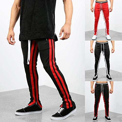Entraînement À Pas Cher Yoga Noir Jogging Homme Fermeture Sport Survêtement Droite Glissière Casual De Kppong L'ourlet Coton Pantalon Slim Pants Coupe Long Gym BYqROx1g