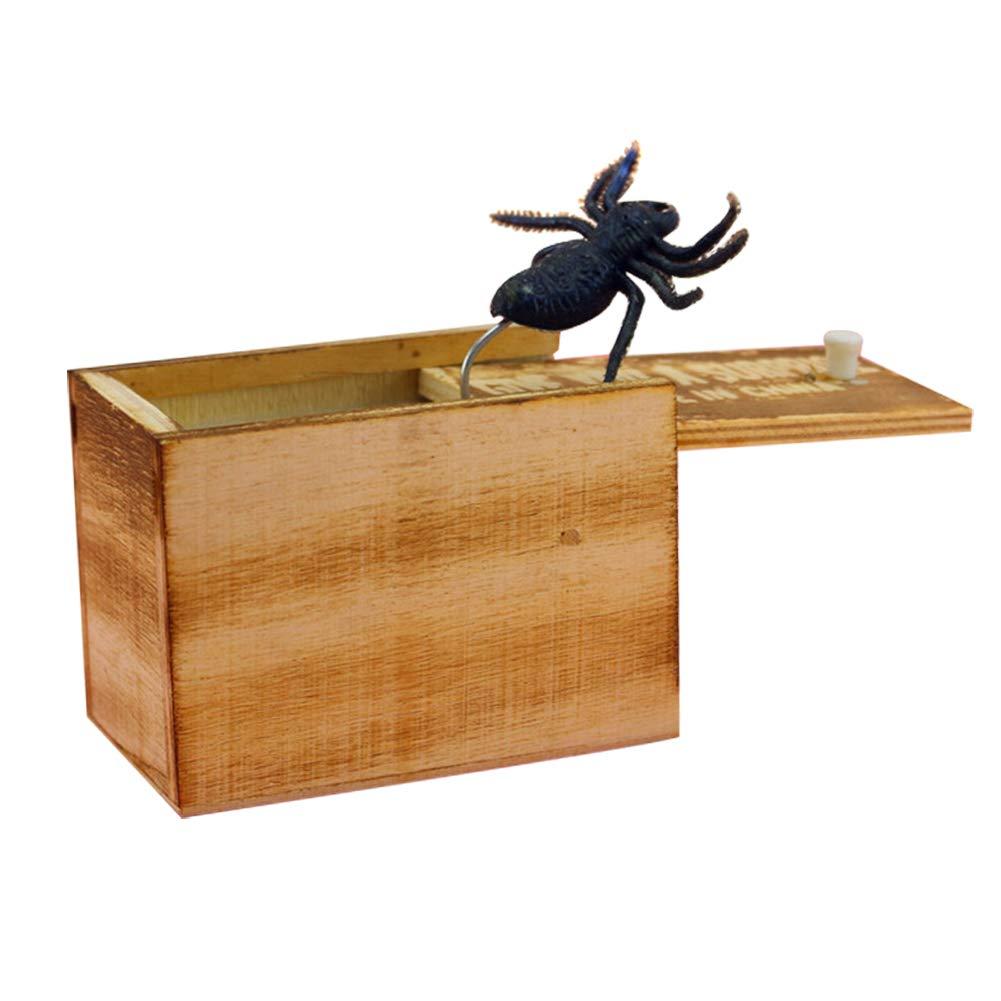 luoOnlineZ 1 pz in Legno Prank Animal Scare Box di Trick Play Scherzo realistica Sorpresa Gag Giocattolo