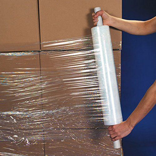 UBOXES Brand Stretch Wrap 20'' Roll With Handle 1000' 80 Gauge