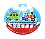 All Aboard Choo Choo Train Birthday Party Supplies (Disposable Plates, Napkins, Cups,Tablecloth) 6-Piece Bundle