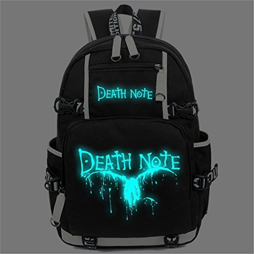 YOYOSHome Death Note Anime Light Yagami Cosplay Noctilucence Messenger Bag Backpack School Bag