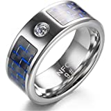Multifunctional NFC Smart Ring,Magic Wearable Universal Wear Finger Digital Ring for Android Windows Mobile Phone(Size 13)