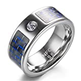 Multifunctional NFC Smart Ring,Magic Wearable Universal Wear Finger Digital Ring for Android Windows Mobile Phone(Size 7)