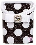 Locker Bin - Glitter Black and White Polka Dot