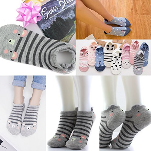 Free Animated Mouse (Cute Women's/Girls Mouse Low Cut animal animated mixed cotton socks [1 Pairs])