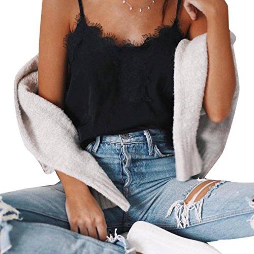 Black Satin Cami - Big Promotion! Women Intimates WEUIE Sexy Women Tank Tops Bustier Bra Vest Crop Bralette Shirt Blouse Cami (M, Black)