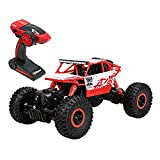 Remote Radio Control Cars, Arvin 2.4Ghz 1/18 RC Car Rock Crawler Vehicle Toy Fast Race Off-Road Truck Rock Vehicle 4WD High Speed Electric Buggy Hobby Car (Red)