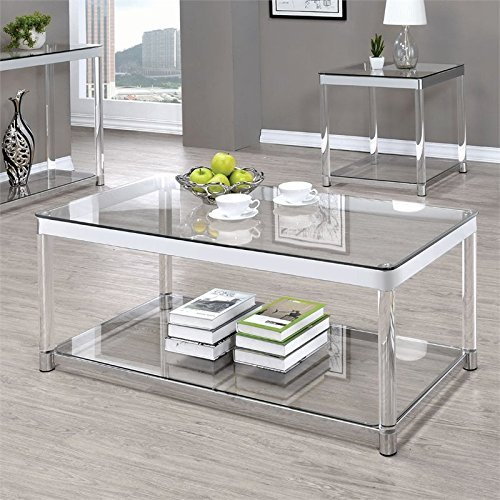 Coaster Glass Top Coffee Table in (Acrylic Coffee Table)
