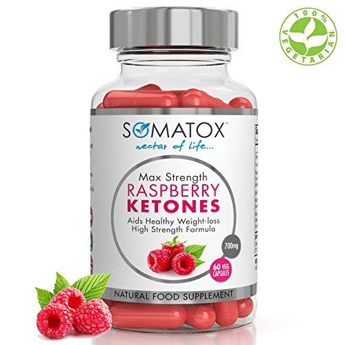 SOMATOX RASPBERRY KETONE Pure Whole Fruit - Natural Weight Loss • Burn...