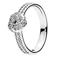 Sparkling Love Knot Ring 190997CZ