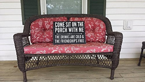 Porch sign, Come sit on the porch with me, Porch rules, Friendship sign, Porch decor, Rustic sign, distressed sign, Front porch sign Review
