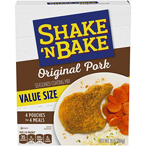 Breaded Chicken Tenderloins (Kraft Shake 'n Bake Original Recipe Pork Seasoned Coating Mix, 10 oz Box)