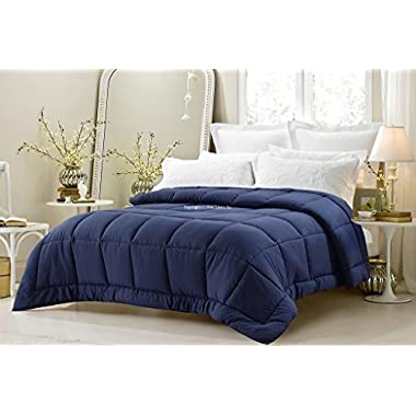 Super Oversized - High Quality - Down Alternative Comforter - Fits Pillow Top Beds - King 110  x 96  - Navy - Exclusively by BlowOut Bedding RN #142035