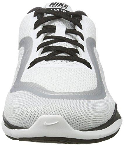 Nike Dames Flex Trainer 6 Wit Zwart Platina 102