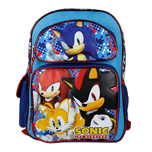 Sonic Hedgehog Blue Backpack School