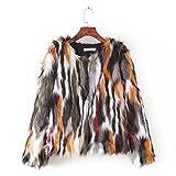 Inkach Women Cardigan Open Front Warm Coat | Long Sleeve Loose Faux Fur Sweater Jacket Outwear (S, Wine)