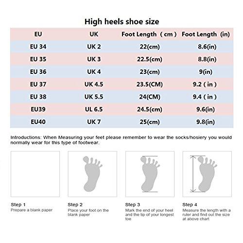 Chaussures 34 élégants Talons Mariage OrangeRed 7cm Rivet Hauts Femmes UK Aiguilles à Talons EU 2 Rivet Respirant Mode qtxZrqwR