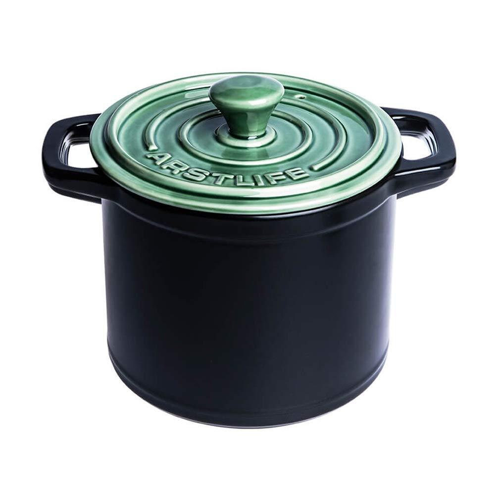 KFXL キャセロール 土鍋 - 高温ガス煮込みキャセロール用マルチカラー家庭用セラミック絶縁キャセロール セラミックキャセロール (Color : A, Size : 3.5L) 3.5L A B07SRY7MQB