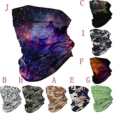 Simayixx Multifunctional Headwear Men Women Windproof Dust-Proof Headband Neck Gaiter Scarves for Outdoor Sport Hiking (D, Free Size): Clothing