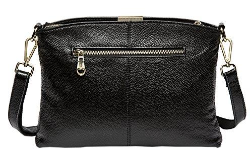 Blue Bags Body Shoulder Dark Leather Womens Cross SAIERLONG Designer Black 1qYUUf
