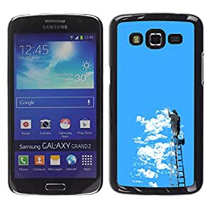 EJOY---Cubierta de la caja de protección la piel dura para el / Samsung Galaxy Grand 2 / -- Graffiti