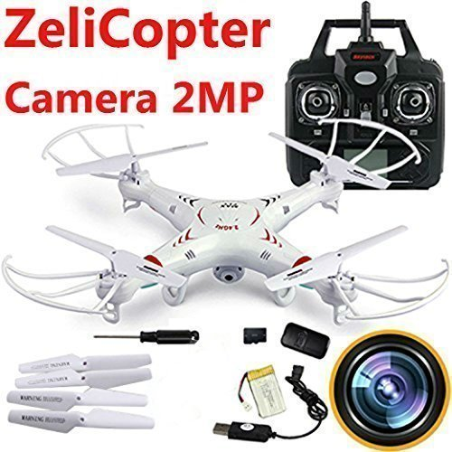 Predator Spy Plane (ZeliCopters RC Quadcopter with 2MP Video Camera,4 Ch 2.4ghz 6-gyro, Remote Control Drone Equipted with Headless System Drones Quadcopters)