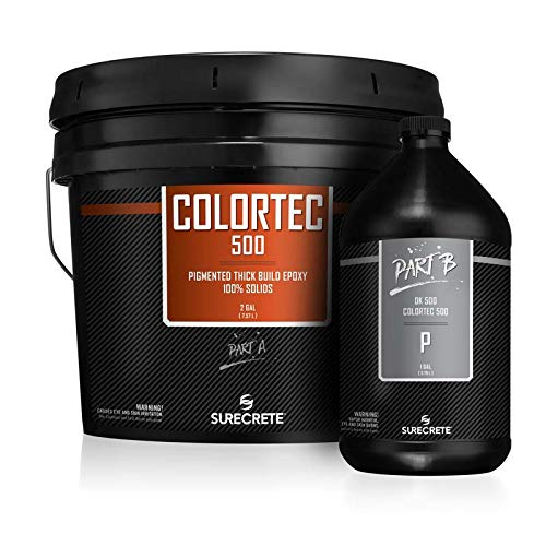 GlobMarble ColorTec DK500 Black Epoxy 100% Solids. Epoxy Floor Base Coat 3 Gal Kit Black