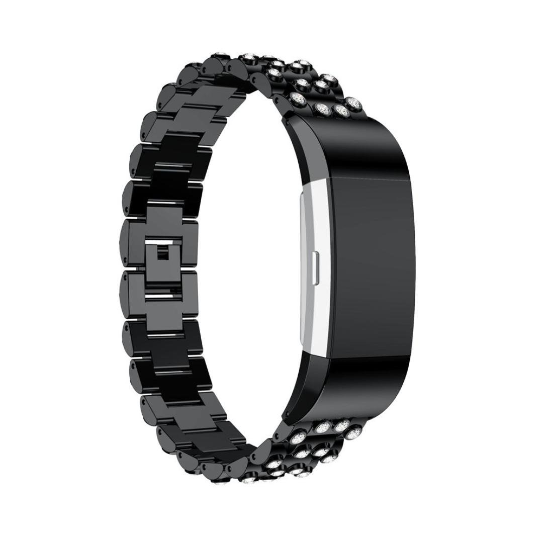 Hefu for Fitbit Charge 2、ファッションステンレススチールWatchブレスレットBand Strap for Fitbit Charge 2 Watch C C B0796SLDFZ