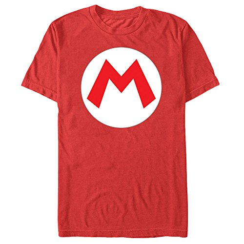 Nintendo Men's Mario Circle Icon Red -
