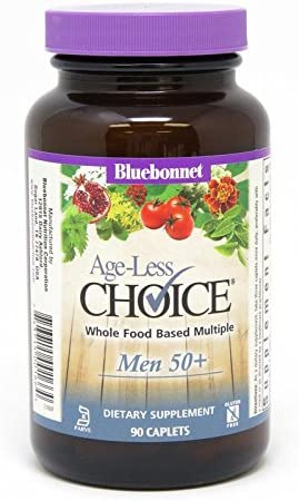 Bluebonnet Nutrition Age-Less Choice Whole Food-Based Multiple for Men 50 Caplets, 90Count