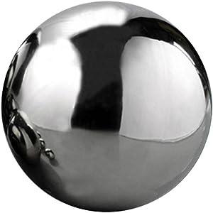 Jungles Gazing Ball, Various Sizes 304 Stainless Steel Seamless Hollow Gazing Ball Mirror Ball Sphere Hollow Decorative Metal Golden Ball Tabletop Home Ornament