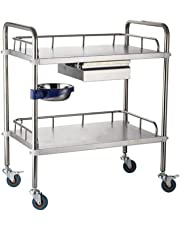 Medical trolley Carro MéDico, Acero Inoxidable, con Carrito De Hospital con Cajones, Asamblea
