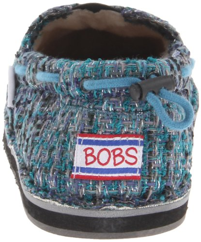 Bobs Van Skechers Womens World Fashion Sneaker, Blue, 5.5 M Us