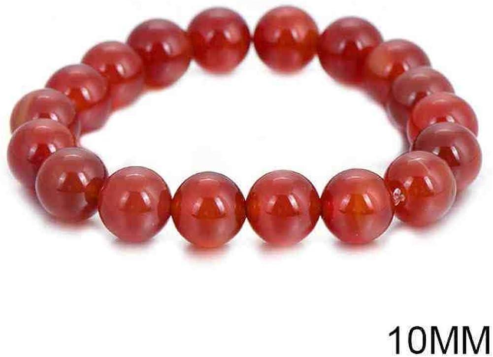 JYHW Moda Coral Rojo Perlas Pulseras Bohemio Piedra Natural Cuentas de oración Buda Pulsera para Mujeres y Hombres