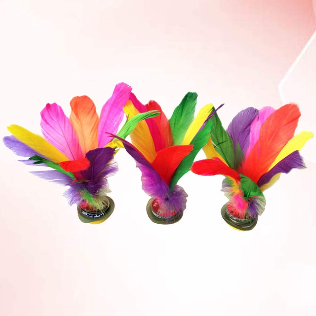 Colorful BESPORTBLE 6pcs Kick Shuttlecock Chinese Jianzi Feather Foot Sports Exercise Outdoor Toy Game