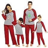 Ekouaer Family Pajamas Boys Pjs for Girls Christmas Clothes Women Cotton Clothes Sleepwear Set