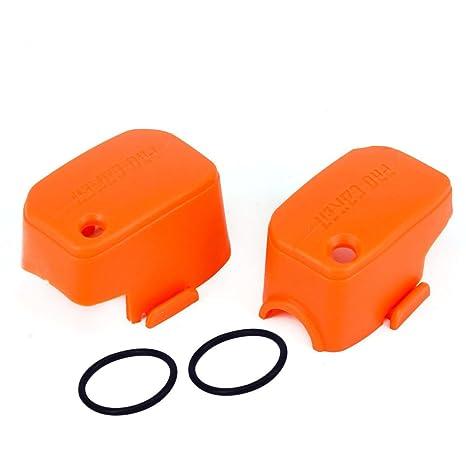 JFG Racing naranja Depósito de líquido del embrague del freno delantero Covers Guardias Protector de pantalla