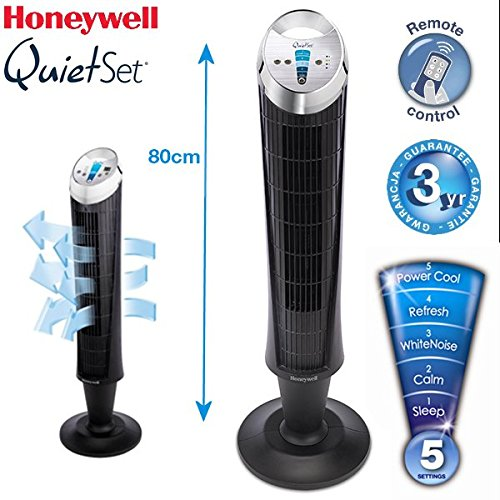 honeywell hy254e4 quietset ventilateur colonne ultra silencieux avec t l commande top bricolage. Black Bedroom Furniture Sets. Home Design Ideas
