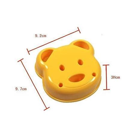 2X DIY HuntGold oso de peluche de galletas cortador de galletas para hacer bolsas para sándwiches o molde para tostadas de pan de horno con forma de ...